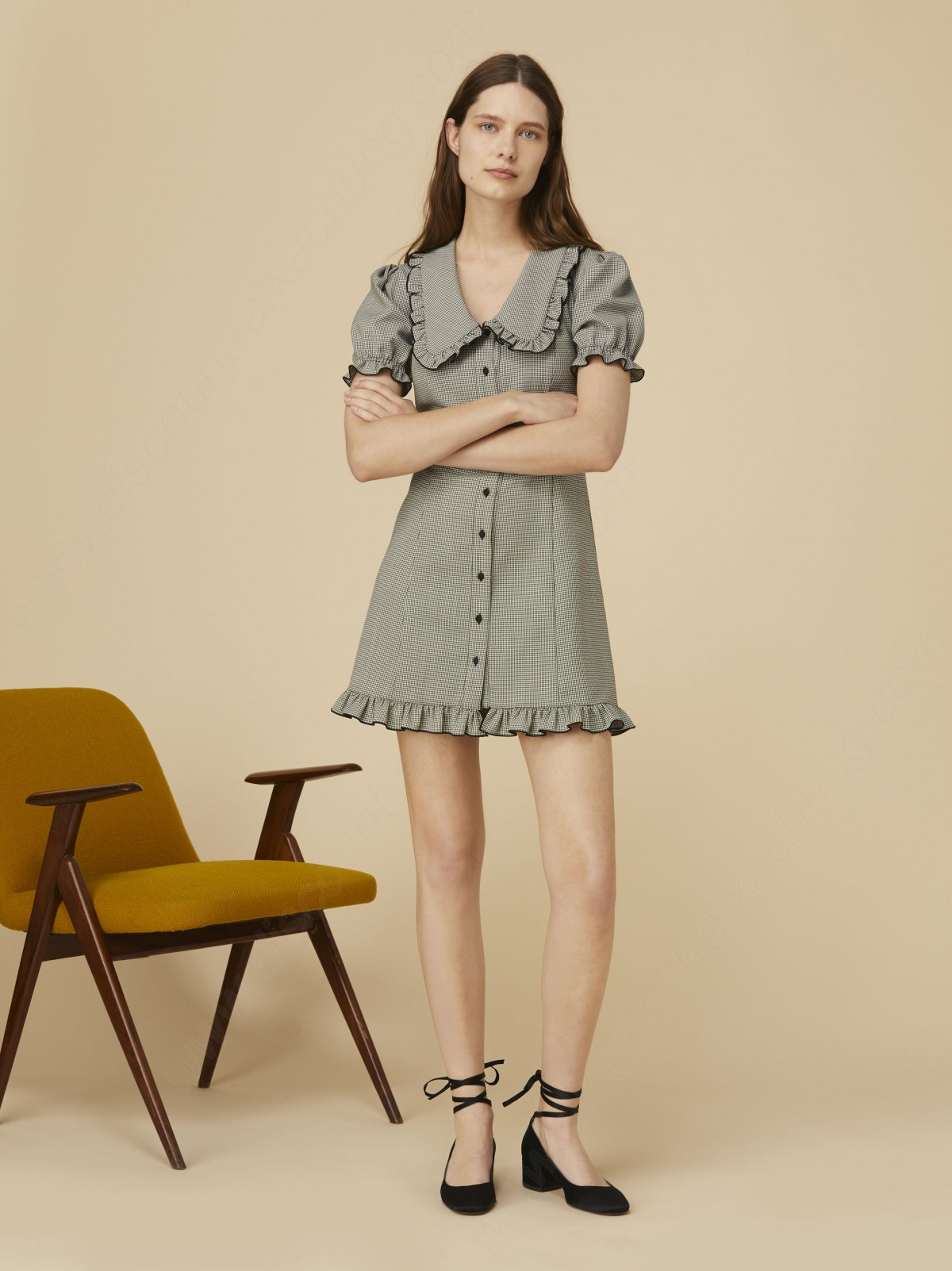 Alexachung Check Babydoll Dress - -2