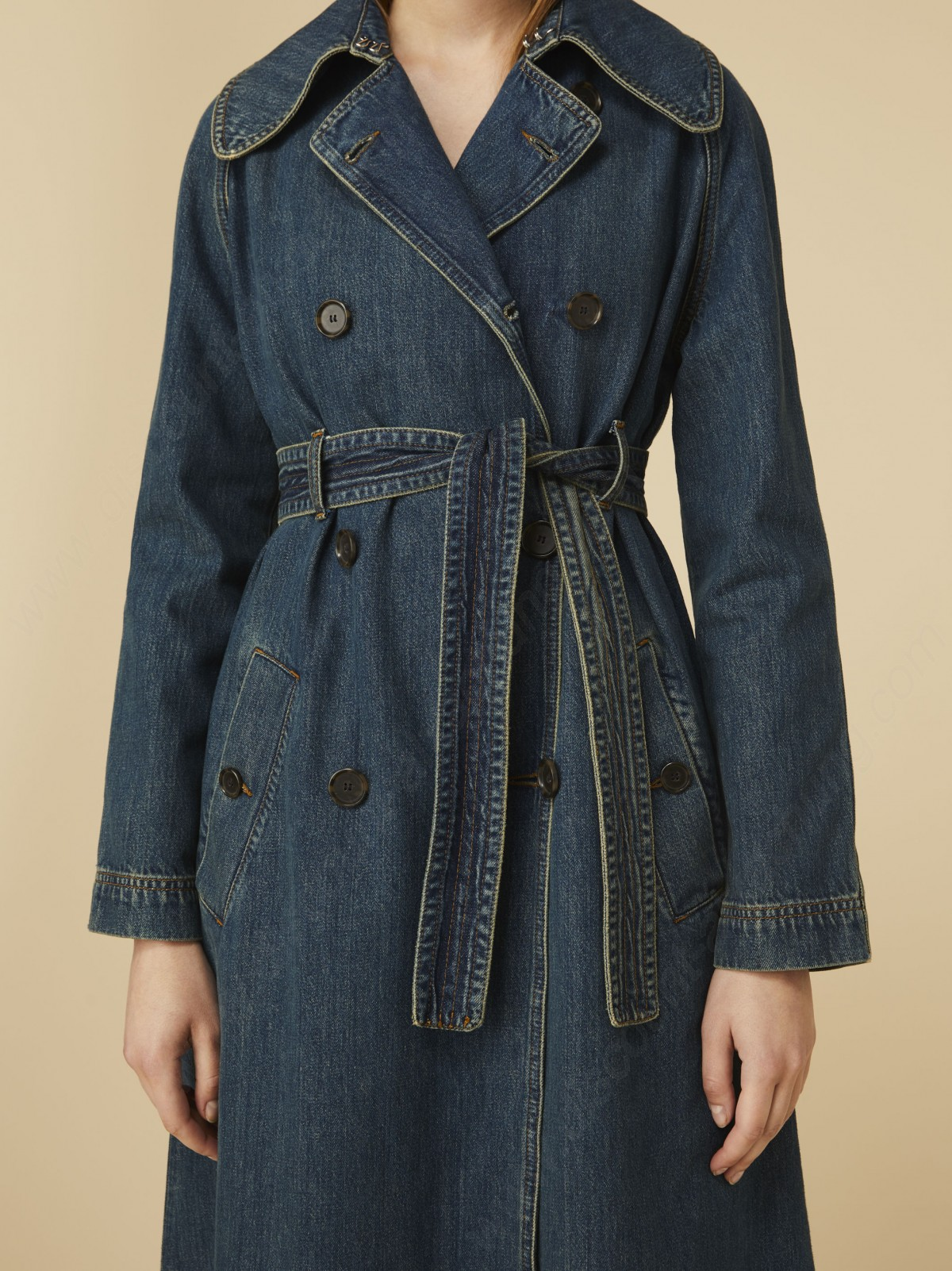 Alexachung Denim Trench Coat - -2