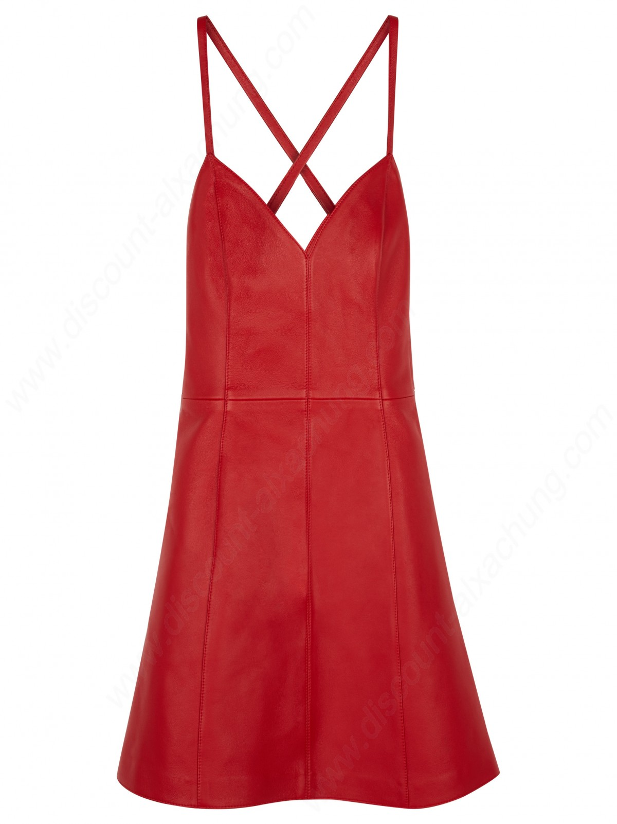 Alexachung Leather Strap Mini Dress - -0