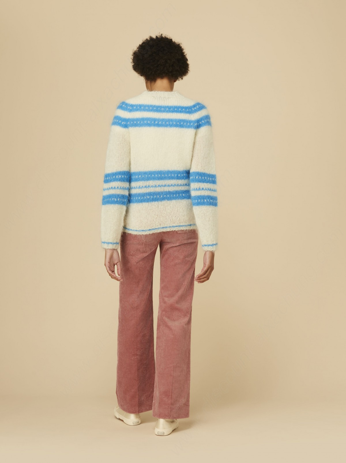 Alexachung White & Blue Striped Jumper - -3