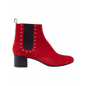 Alexachung Red Studded Chelsea Boot