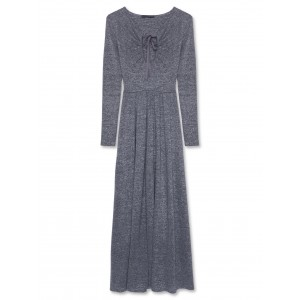 Alexachung Silver Lurex Key Hole Maxi Dress